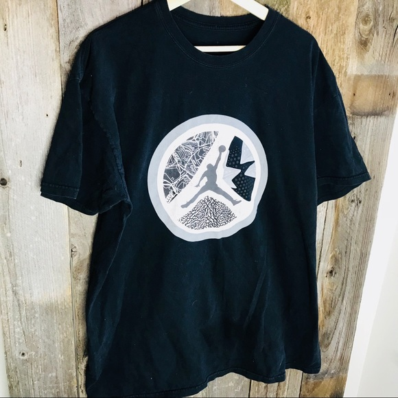 2ba3da9d63b8 Jordan Other - Nike Air Jordan Black graphic Basketball T-Shirt